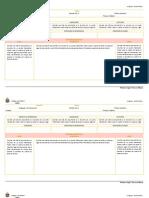 Planifiación diaria lenguaje quinto básico