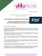 Lettre au président François Hollande