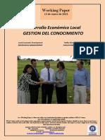 Desarrollo Económico Local. GESTION DEL CONOCIMIENTO (Es) Local Economic Development. KNOWLEDGE MANAGEMENT (Es). Tokiko Ekonomi Garapena. EZAGUTZAREN KUDEAKETA (Es)