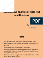 comparative analysis of dominos n pizza hut