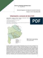 URBANIZACION Y CONSUMO DE TIERRA FERTIL