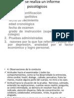 Como se realiza un informe psicológicos
