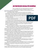 Sistemul de protectie sociala in Romania