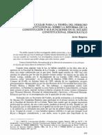 Una cuestión nuclear para la teoría del derecho constitucional (Javier Ruipérez)