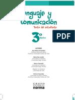 Libro de Lenguaje y Comunicación 3° Básico 2013.