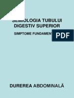 1.Semiologia Tubului Digestiv Superior