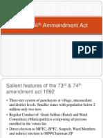 73rd & 74th Ammendment Act