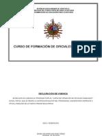 CURSO DE FORMACIÓN DE OFICIALES ASIMILADOS