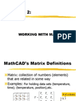 MathCAD Lecture 2