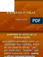 Expresion Oral Persuasion