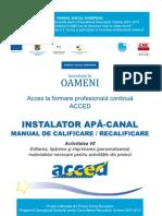 Instalator apa canal