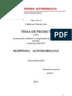 Eccp Suspensia Automobilului Proiect