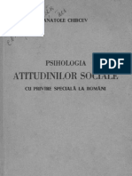 Psihologia atitudinilor sociale cu privire speciala la romani
