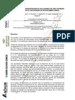 Purificacion y Concentracion de Soluciones de Oro en Medio A
