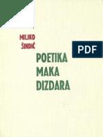 Poetika Maka Dizdara [dr. Miljko Šindić, 1971.]