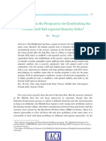 An Analysis on the Perspective for Establishing the Persian Gulf Sub-regional Security Order