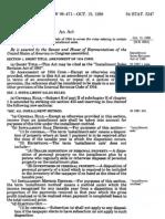 Installment Sales Revision Act of 1980 (PL 96-471)