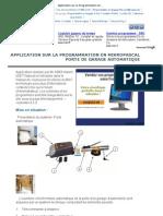 pplication sur la Programmation en mikropascal