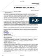 Notice to FHFA concerning their interests in Tranche 1A1 GSAA HET 2005-15