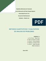 Metodos Cuantitativos y Cualitativos de Analis de Problema