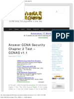 Answer CCNA Security Chapter 2 Test - CCNAS v1.1 _ Invisible Algorithm