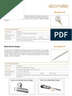 ELCOMETER 122 datasheet