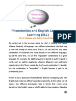 Phonotactics and English Language Learning (ELL) French Students