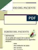 egreso del paciente