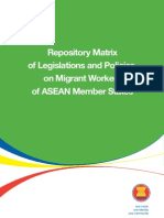Repository Matrix of Legislations and Policies on Migrant Workers of ASEAN Member States