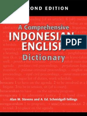 25 a Comprehensive Indonesian-English Dictionary | Acronym