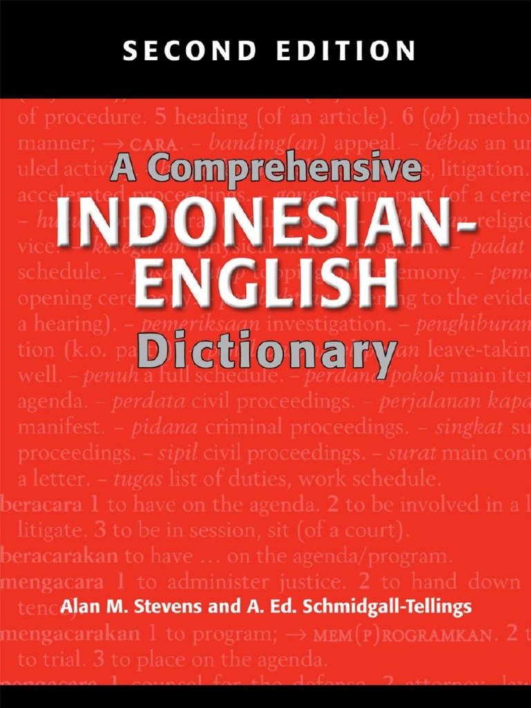 25.a Comprehensive Indonesian-English Dictionary  cad8625348