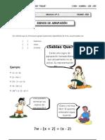 I BIM - 1er. Año - ALG - Guía 2 - Signos de Agrupación