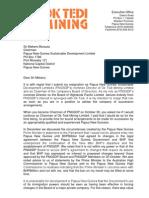Garnaut's Resignation Letter