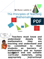 Principles of Teaching Mathematics