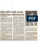 Illinois State Bill would ravage Tenant Law, Alderman David Orr says