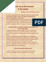 El Poder de Las Afirmaciones- Extracto Del Libro La Ley de La Resonancia- De Pierre Franckh