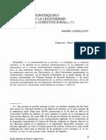 Renegar de Montesquieu. La expansión y la legitimidad de la justicia constitucional (Mauro Cappelletti)