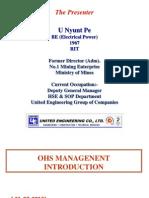 OHS Management Introduction