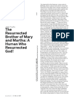 Jalal Toufic, The Resurrected Brother of Mary and Martha, A Human Who Resurrected God