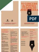 Folleto Concurso Poesia FJS 2013. Catala