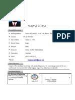 Waqas Imtiaz CV