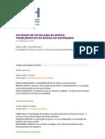 Colóquio de Sociologia da Música, UNL, FCSH, 2013, Programa