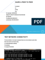 How to configure a peer to peer network