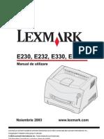 manual service lexmark e232