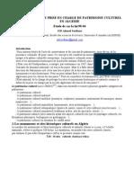 LA STRATEGIE DE PRISE EN CHARGE DE PATRIMOINE CULTUREL