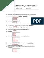 Indicatif vs. Subjonctif