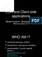 Event Oriented Architecture and Client side Applications