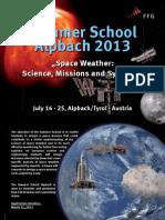 Summer School Alpbach 2013 Poster