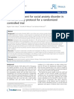 Internet treatment for social anxiety disorder in