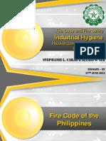 ENGSAFE_EV_Grp.3 (Fire Code, Fire Safety, Industrial Hygiene)